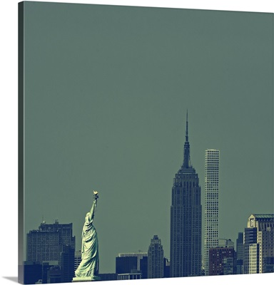 Statue Of Liberty And Empire State Buillding