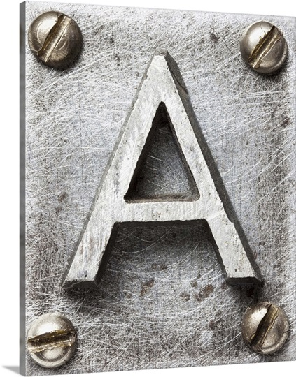Metal Letter Art Simple A  Metal Plate Letter Art  Great Big Canvas Review