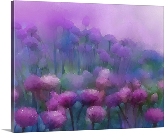 Abstract flowers oil painting Wall Art, Canvas Prints, Framed Prints ...