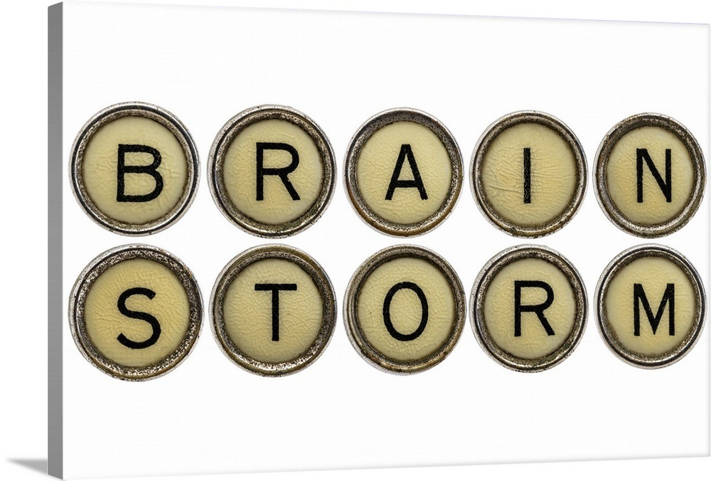 Brainstorm - Vintage Typewriter Keys