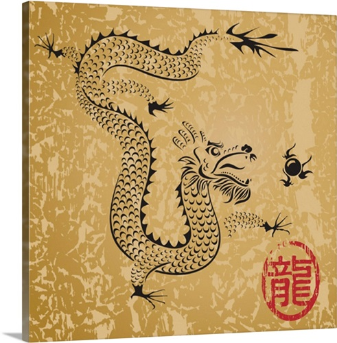 Chinese Dragon Wall Art, Canvas Prints, Framed Prints, Wall Peels ...
