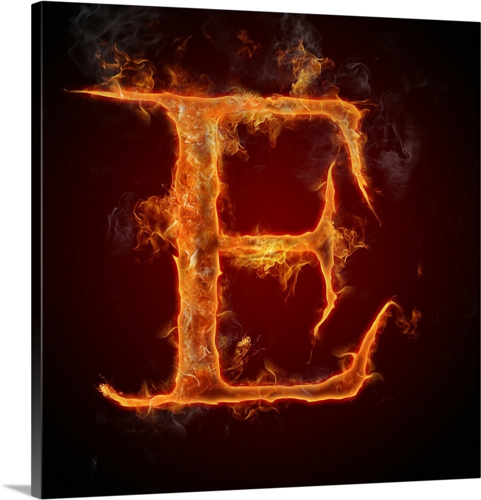 b176d8ec8030 Your Item was Added To Your Cart! E - Flame Letter Art