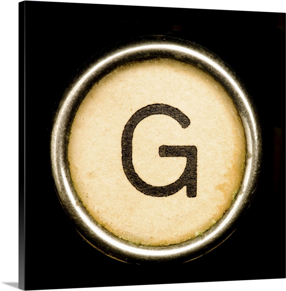 G - Black Typewriter Key Letter Art