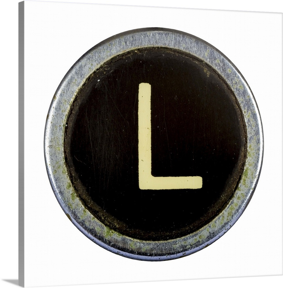 L - White Typewriter Key Letter Art