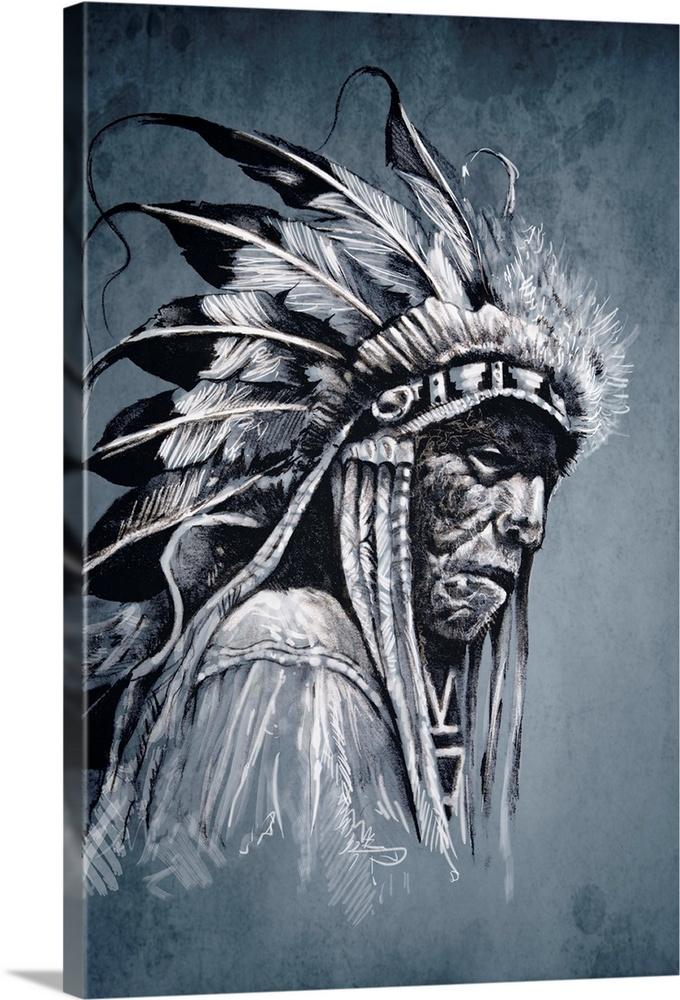 Native American, Profile Portrait