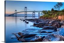 Newport Bridge at Sunrise, Rhode Island.