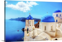 Oia town on Santorini island, Greece
