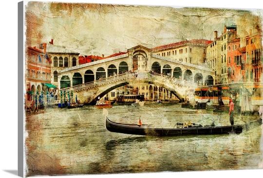Rialto Bridge, Venice Wall Art, Canvas Prints, Framed Prints, Wall ...