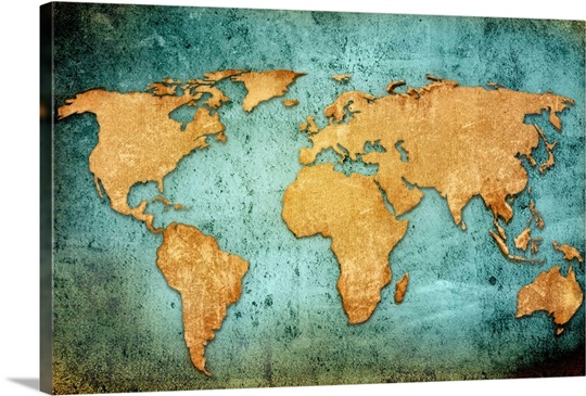 Textured world map wall art canvas prints framed prints wall textured world map gumiabroncs Image collections