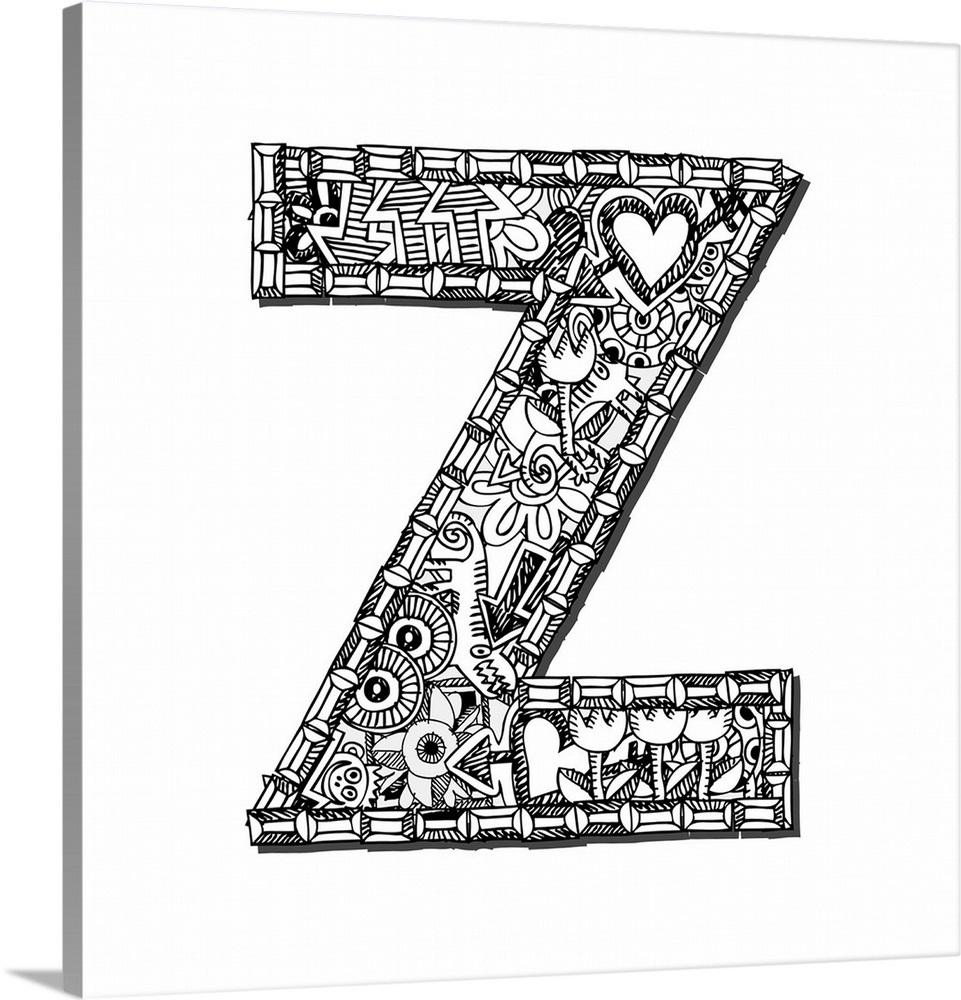 Z - Doodle Letter Art