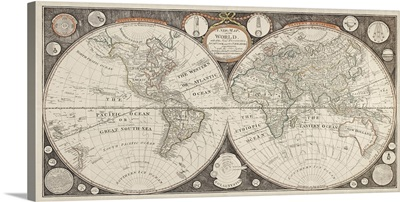 A New Map of the World with all the New Discoveries by Capt. Cook