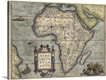 Antique Map of Africa, 1570