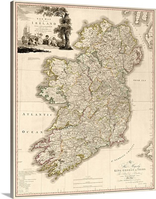 Antique Map of Ireland, 1797