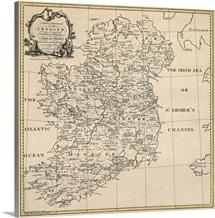 Antique Map of Ireland, ca. 1795