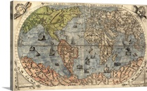 Antique Map of the World, 1565