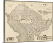 Antique Map of Washington DC, 1818