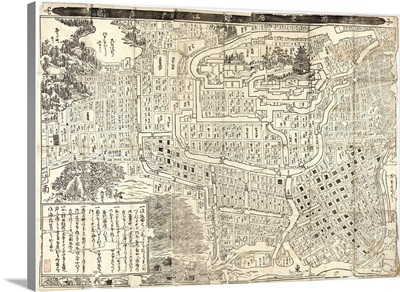 Cadastral map showing land ownership in central Tokyo, 1685