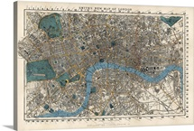 Smith's Vintage Map of London