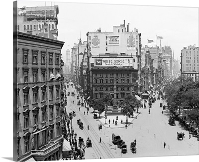 Vintage photograph of Broadway and Fifth Avenue, New York City
