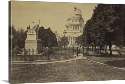 Vintage photograph of Capitol Building under Contruction, Washington, DC
