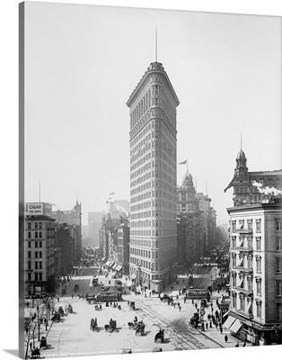 Vintage photograph of Flatiron Building, New York City