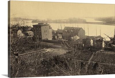 Vintage photograph of Georgetown and Potomac River, Washington, DC