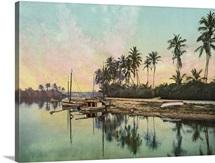 Vintage photograph of Miami River, Florida
