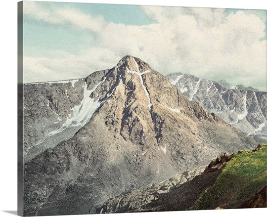 Vintage photograph of Mount of the Holy Cross, Colorado
