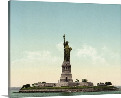 Vintage photograph of Statue of Liberty, New York City