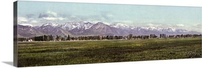 Vintage photograph of The Wasatch Range, Salt Lake City, Utah