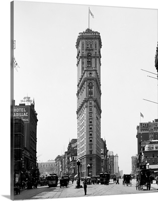 Vintage photograph of Times Building, Times Square, New York City