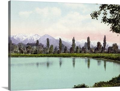 Vintage photograph of Wasatch Range from Liberty Park, Salt Lake City, Utah