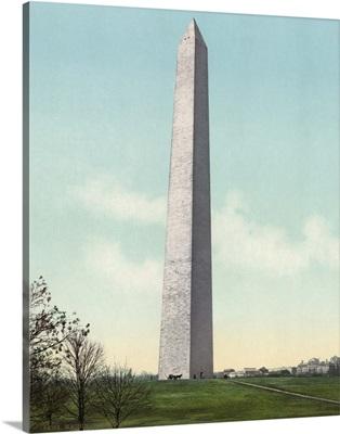 Vintage photograph of Washington Monument, Washington, DC