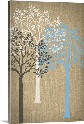 Burlap Trees I