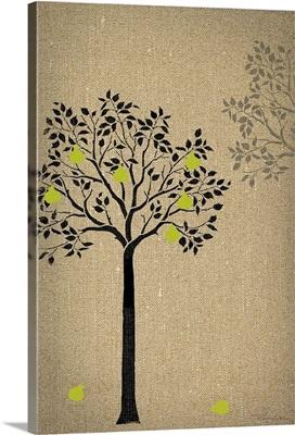 Burlap Trees IV