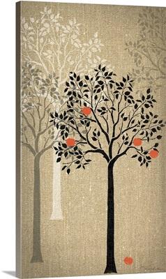 Burlap Trees VI