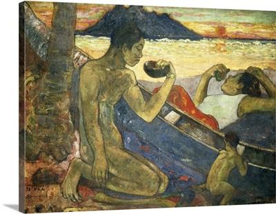 A Canoe (Tahitian Family), 1896