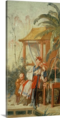 A Chinese Garden, study for a tapestry cartoon, c.1742
