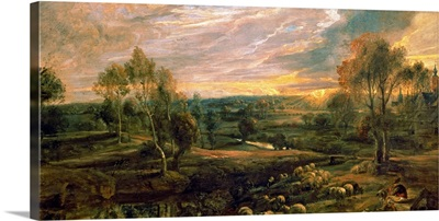 A Landscape with a Shepherd and his Flock, c.1638