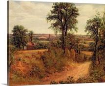 A Lane near Dedham, c.1802 (oil on canvas)