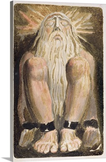 A naked man with a long, white beard, plate 3 from The First Book of Urizen, 1794