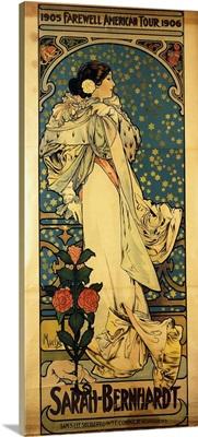 A poster for Sarah Bernhardt's Farewell American Tour, 1905-1906, c.1905