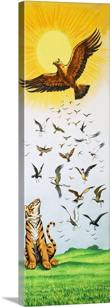 A scene from the folk-tale King of the Birds