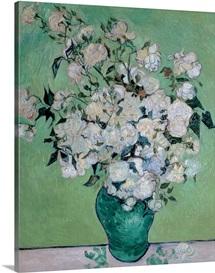 A Vase of Roses, 1890
