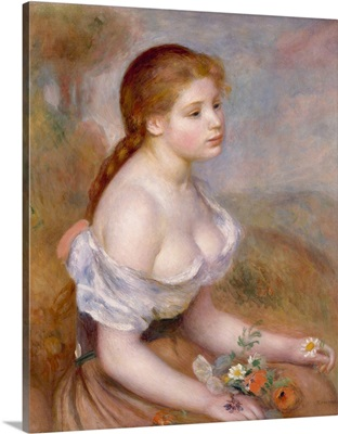 A Young Girl with Daisies, 1889