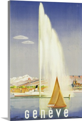 Advertisement for travel to Geneva, c.1937