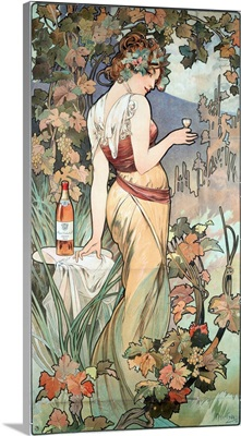 Advertising Poster By Alphonse Mucha For Cognac Bisquit, Dubouche, 1899