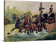 Alphonse de Toulouse Lautrec Monfa (1838 1913) Driving his Mail Coach in Nice, 1881 (oil on canvas)