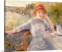 Alphonsine Fournaise (1845 1937) at The Grenouillere, 1879 (oil on canvas)