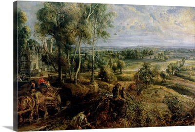 An Autumn Landscape with a view of Het Steen in the Early Morning, c.1636